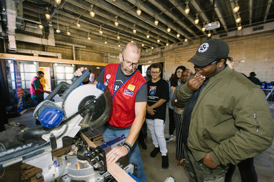 Lowe's hosts immersion event to introduce high school students to the skilled trades industry.