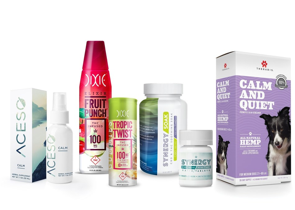The Dixie Brands portfolio of CBD and THC-infused products includes more than 100 high-quality, commercially available items. (CNW Group/Dixie Brands, Inc.)