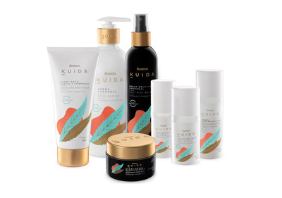 The Kuida™ portfolio of hemp-derived CBD cosmeceutical products includes body scrubs, contours, body lotions and more. (CNW Group/Dixie Brands, Inc.)