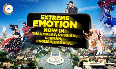 ZEE5 Global新增5種國際語言的內容為全球帶來最好的印度娛樂