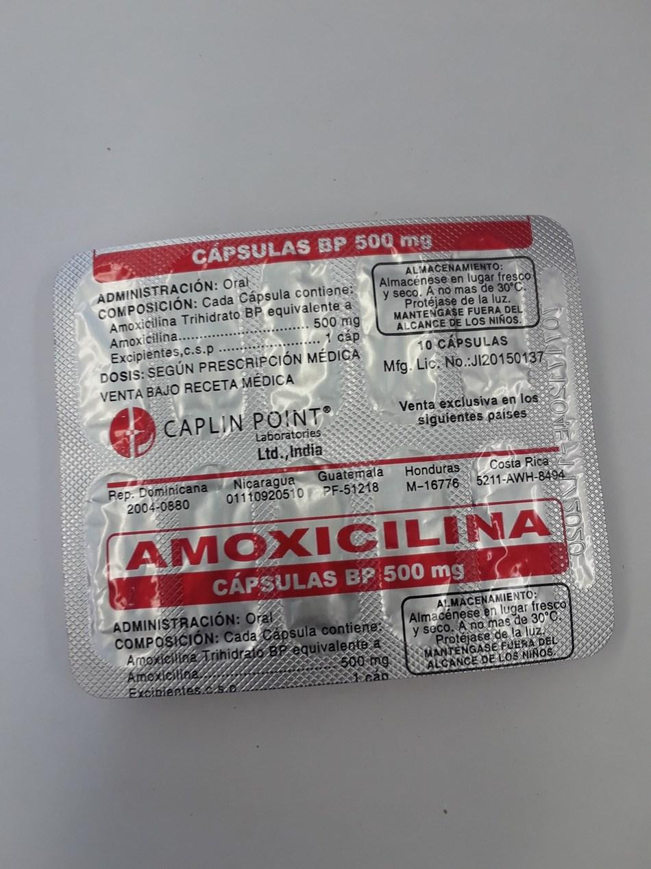 Amoxicilina 500 mg (Groupe CNW/Santé Canada)