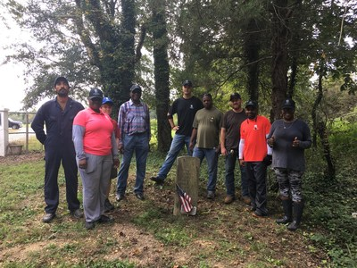 A group of veterans is helping clean up a historic cemetery in Richmond with Wounded Warrior Project.