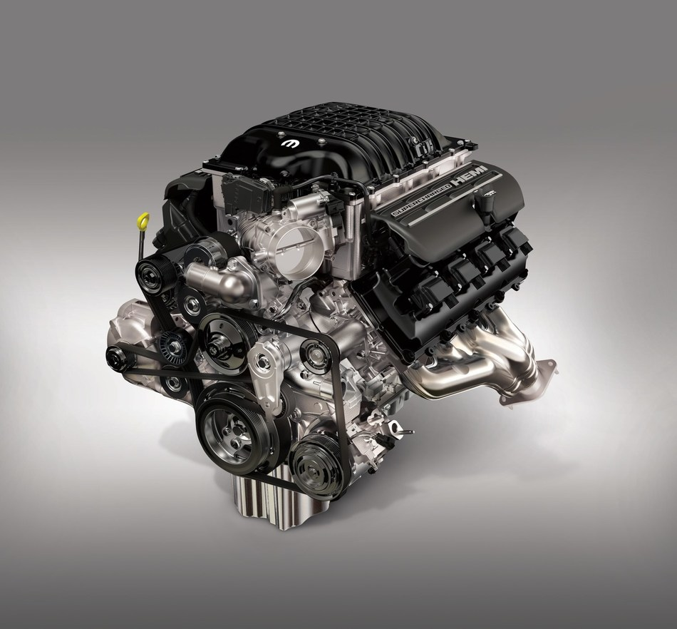 """Pre-ordering is now powered up for the 1,000 horsepower Mopar """"Hellephant"""" 426 Supercharged Crate HEMI® Engine."""