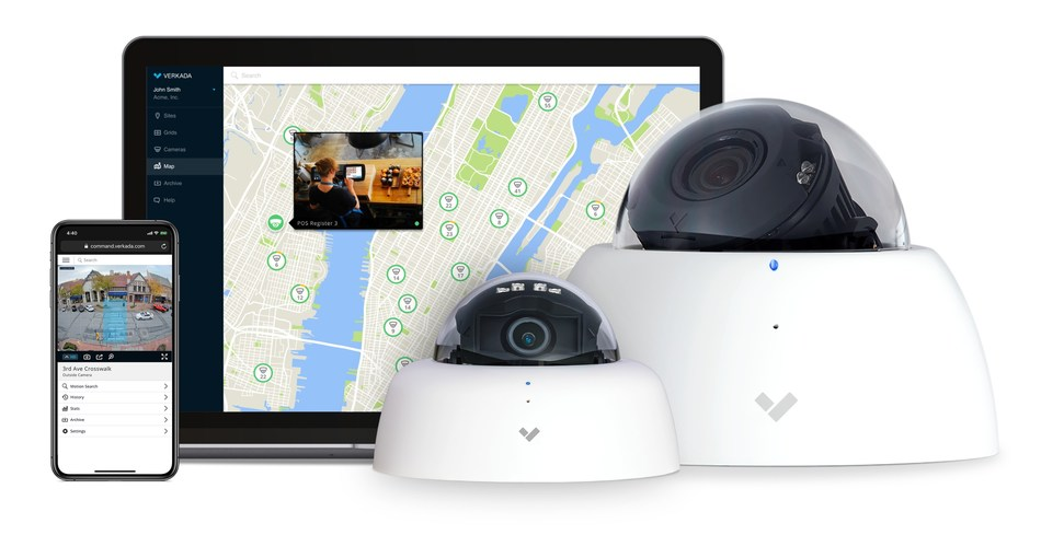 Verkada's end-to-end video security system is built on a modern software stack, empowering end users to easily, and securely, monitor cameras on a centralized management platform.
