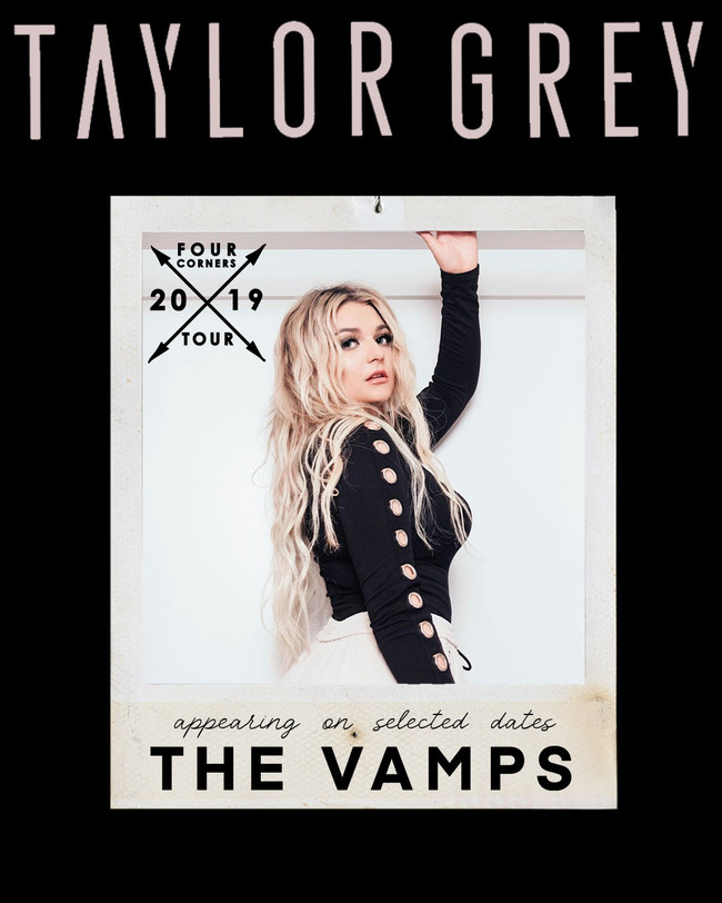 Taylor Grey x The Vamps 4 Corners 2019 UK Tour Graphic