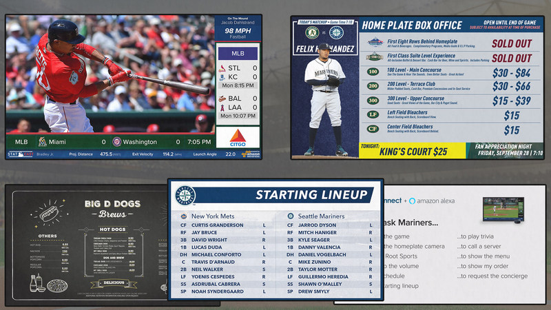 FanConnect Screens around MLB