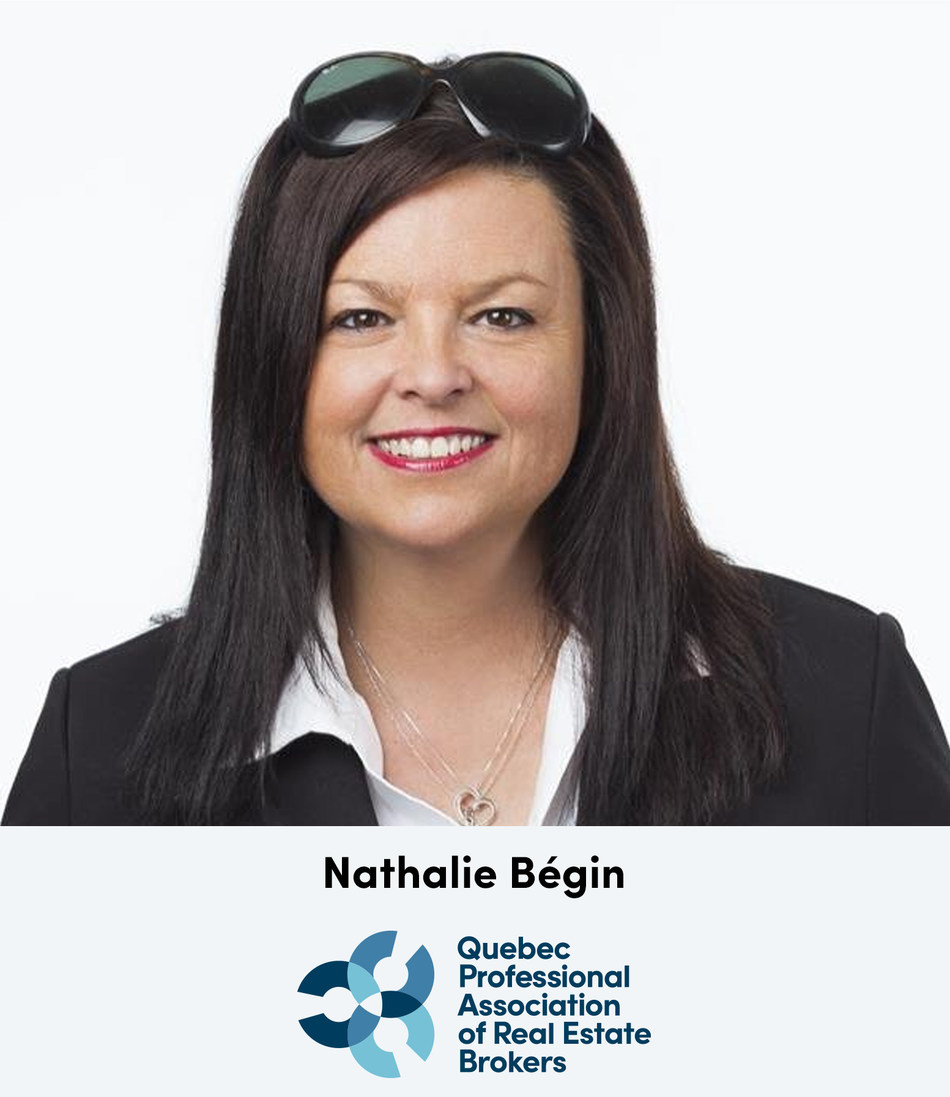 Nathalie Bégin, new President of the QPAREB Board of Directors (CNW Group/Quebec Professional Association of Real Estate Brokers)