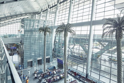 thyssenkrupp has secured its largest ever airports services contract at Hamad International Airport in Doha which boasts an excellent reputation combining cutting-edge architectural design with the most advanced technological system. (credit: thyssenkrupp Elevator)