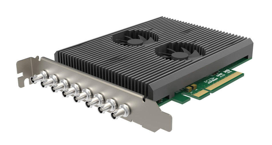 Magewell's Pro Capture Dual SDI 4K Plus card captures two simultaneous 4K video signals with flexible support for multiple interface standards including 12G-SDI.