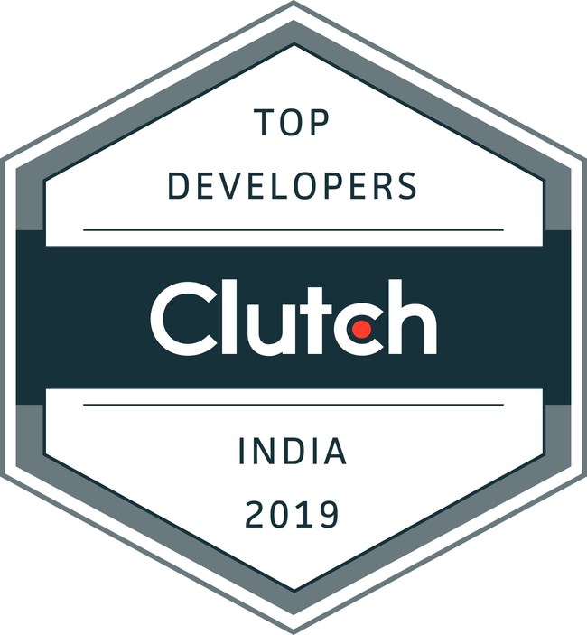 Clutch Award - Top Developers in India 2019