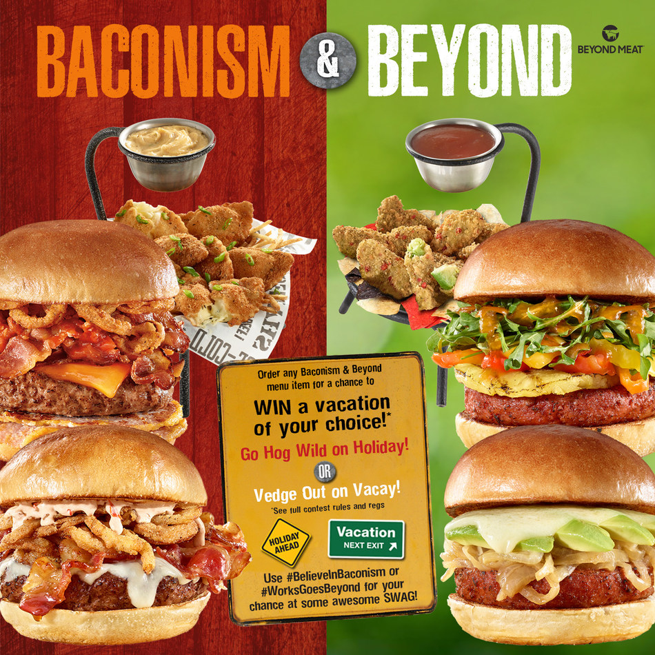 Share a photo of your works burger to @workburger and hashtag #BelieveInBaconism or #WorksGoesBeyond for your chance to win a trip and some awesome swag! (CNW Group/The WORKS Gourmet Burger Bistro)