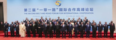 President Xi Jinping and foreign dignitaries pose for a photo following the leaders\' roundtable at the Second Belt and Road Forum for International Cooperation in Beijing, April 27, 2019. [Photo by Feng Yongbin/China Daily]
