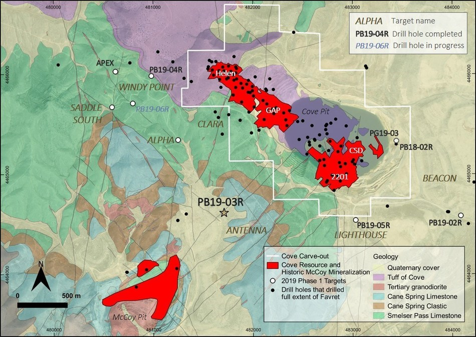 Figure 1 - McCoy-Cove Phase 1 Target Locations (CNW Group/Premier Gold Mines Limited)