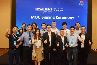 HUAWEI CLOUD suscribe memorando de entendimiento en la cumbre de Singapur (PRNewsfoto/HUAWEI CLOUD)