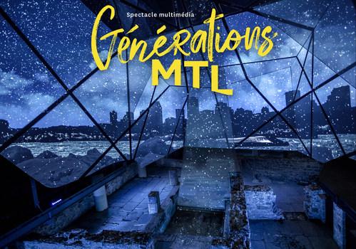 L'histoire de Montréal revit sous vos yeux grâce au nouveau spectacle multimédia Générations MTL de Pointe-à-Callière. (Groupe CNW/Pointe-à-Callière, Cité d'archéologie et d'histoire de Montréal)