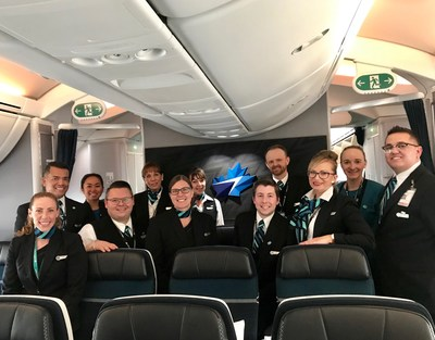 WestJet's Dreamliner takes first transatlantic flight (CNW Group/WESTJET, an Alberta Partnership)