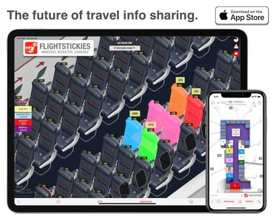 FlightStickies: 3D SeatMaps, Airport Maps and 3D Aircraft.