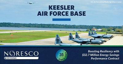 NORESCO, a national leader in energy efficiency and infrastructure solutions, is implementing self-funding facility improvements at Keesler Air Force Base through a $32.7 million guaranteed energy savings performance contract.