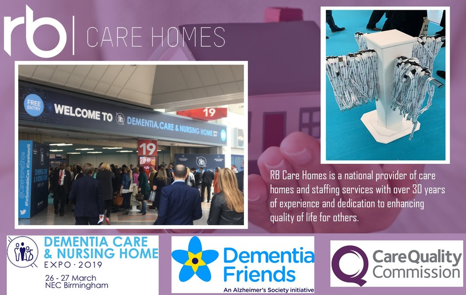RB Care Homes Sponsored Demetia, Care & Nursing Home Expo 2019 Offer Hope For People Requiring Specialised Care