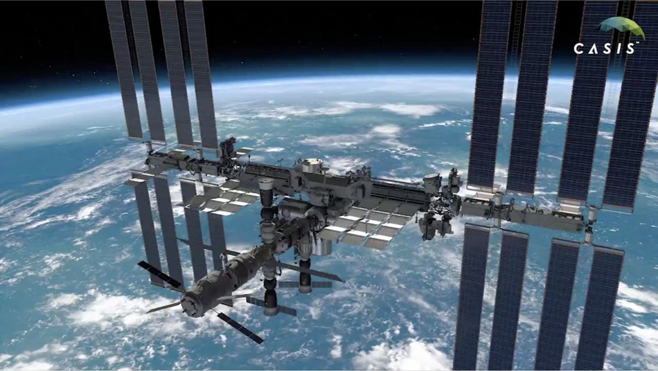 The space station in orbit. Photo credit: ISS National Lab