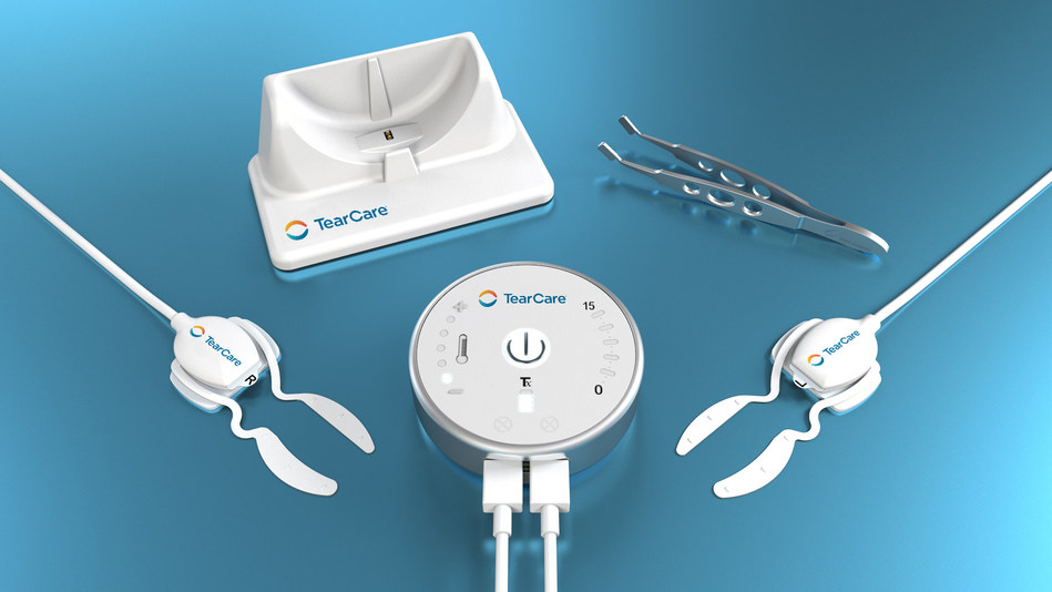 New TearCare® System is the world's first and only wearable device providing a personalized open-eye experience for dry eye disease treatment.