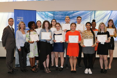 Cégep Garneau scholarship recipients with Denis Ricard, President and Chief Executive Officer of iA Financial Group (CNW Group/Industrial Alliance Insurance and Financial Services Inc.)