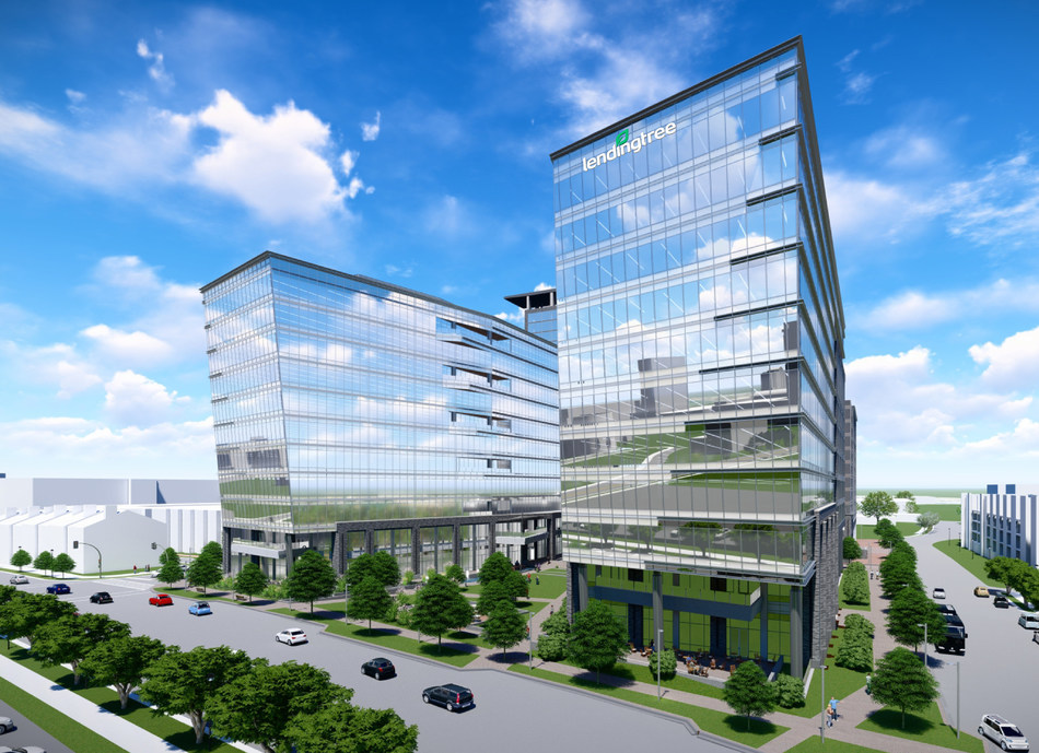 A rendering of LendingTree's new headquarters in Charlotte, N.C
