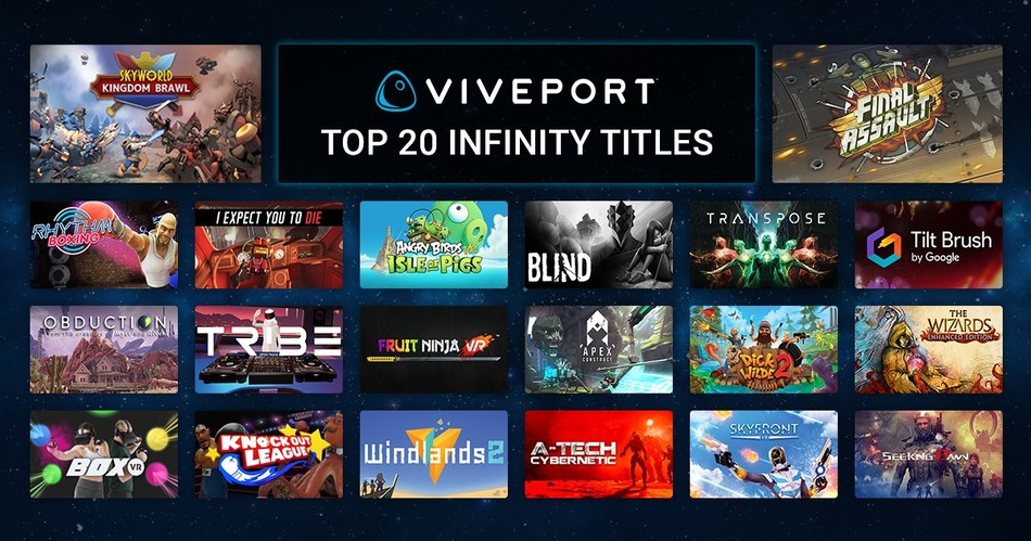 Top 20 titles in Viveport Infinity offers a savings valued at over $400
