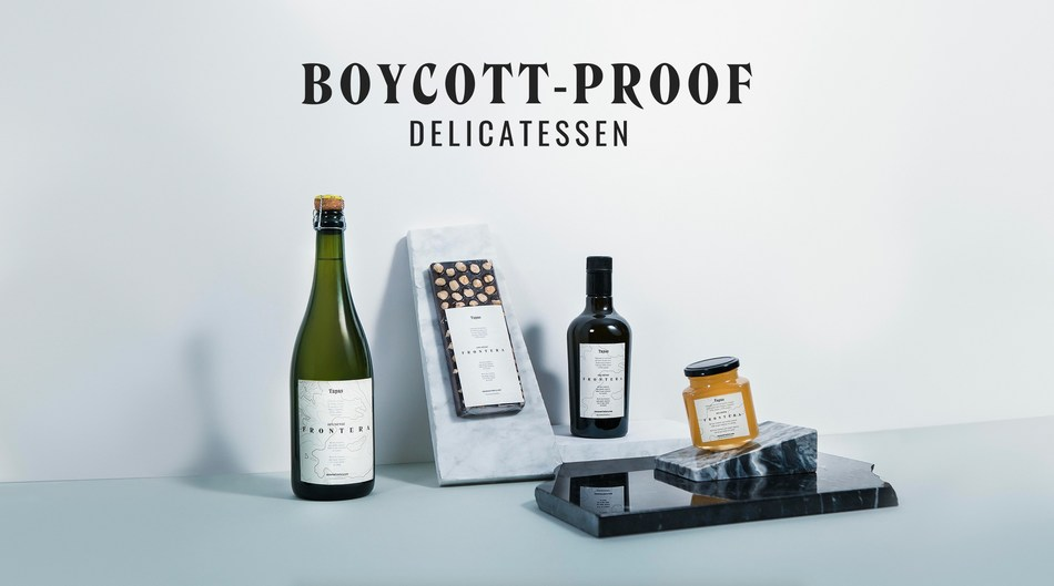 Boycott-Proof Delicatessen is the first-ever boycott-proof label, made with ingredients sourced from both sides of the Spanish-Catalan border. With this initiative, Tapas magazine aims to unite society through food and drink. This idea emerges as a response to the political conflict between Catalonia and the rest of Spain. (PRNewsfoto/MRM Madrid)