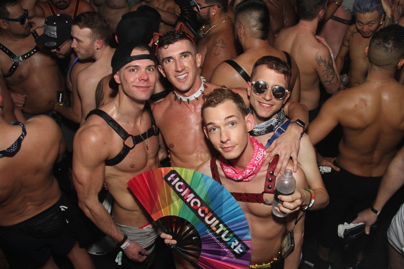 The 2019 HomoCulture Gear collection features circuit fans, along with matching accessories, including drawstring bags, tops, and swimsuits to complete ensembles for LGBT events. (CNW Group/HomoCulture)