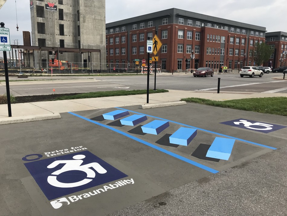 The first-ever 3D accessible parking design debuting in the Indianapolis metro area marks the launch of BraunAbility's Drive for Inclusion, a movement for access and inclusion for people with mobility disabilities.