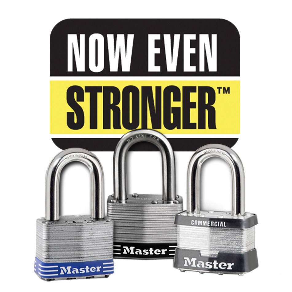 "Master Lock introduces a new generation of Laminated Padlocks. Rolling out now for both ""Home & Personal"" and ""Business & Industry"" use, Master Lock's family of Laminated Padlocks are ""Now Even Stronger,"" providing users with maximum protection against a wide range of attacks."