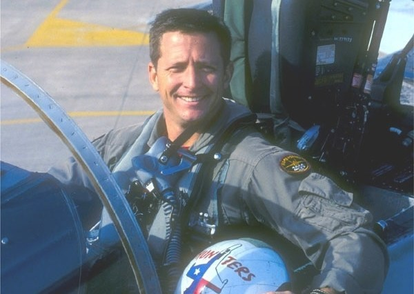 E. Matthew 'Whiz' Buckley when he was a Navy fighter pilot