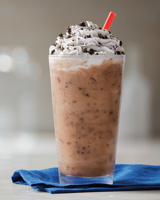 A spin on the classic Iced Capp, mixed with OREO bits and additional cookie crumbs sprinkled on top (CNW Group/Tim Hortons)