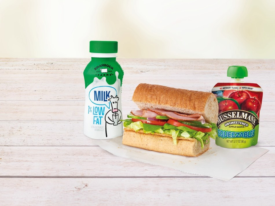 With a Subway Fresh Fit for Kids® Meal, kids choose from one of four delicious 4-inch subs made with lean proteins, and fresh veggies like lettuce, tomatoes, and cucumbers. They also choose from no sugar added beverages like 1% low-fat milk or Honest Kids juice and each kids' meal is paired with a 100% fruit side.