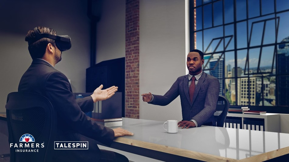 Farmers Insurance and Talespin collaborate on new virtual human VR innovation.