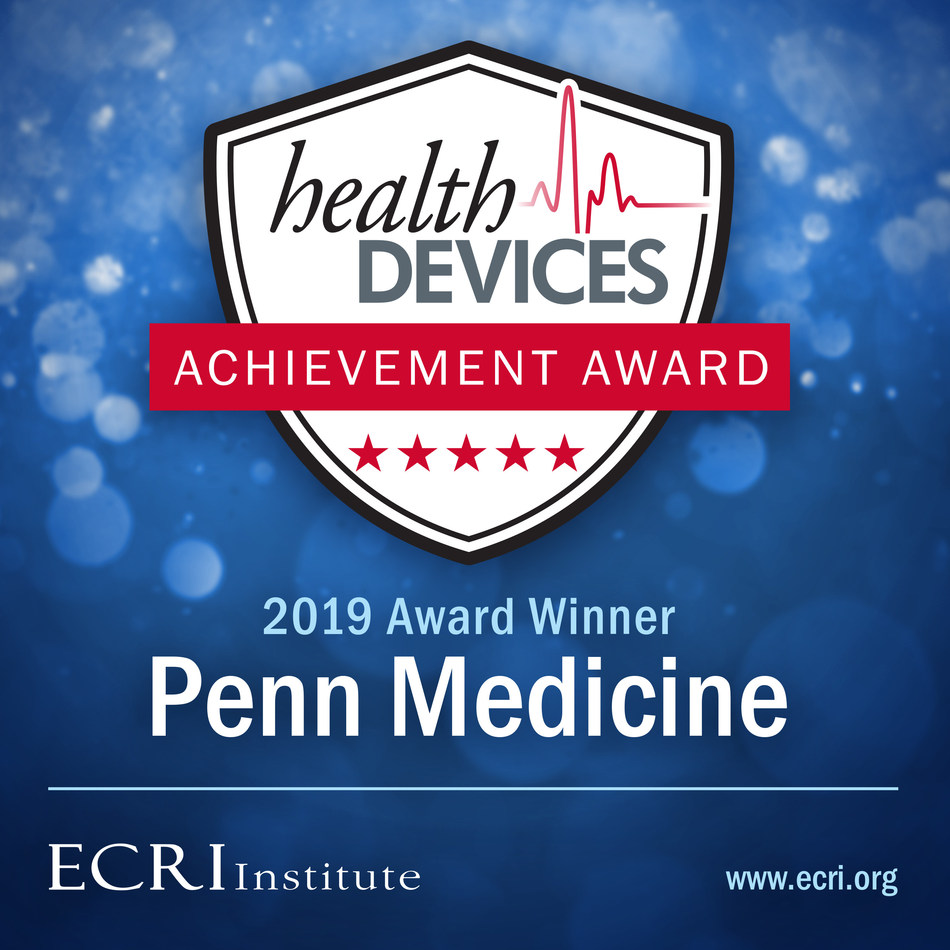 ECRI Institute Names Penn Medicine Winner of Health Devices