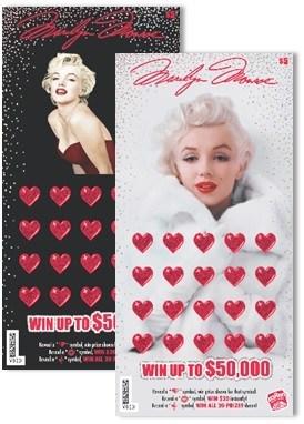 Idaho Lottery's $5 Marilyn Monroe™ Designs (CNW Group/Pollard Banknote Limited)