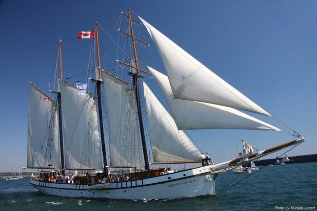 Canada's largest sailing vessel, EMPIRE SANDY, is announced to arrive at tall ships 2019 festival in Erie, PA.