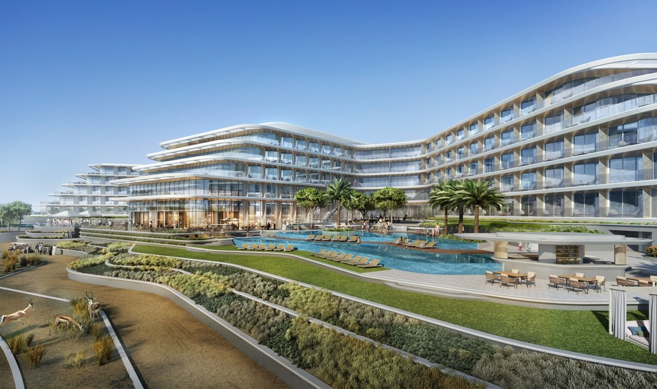 New JA Lake View Hotel at JA The Resort Dubai (exterior shot) (PRNewsfoto/JA Resorts & Hotels)