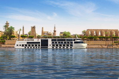 Artist rendering of Viking Osiris, Viking's new river vessel for Egypt. Inspired by the design of the award-winning Viking Longships and built specifically for the Nile River, the 82-guest Viking Osiris is currently under construction and double the company's owned capacity in Egypt when it debuts in September 2020.