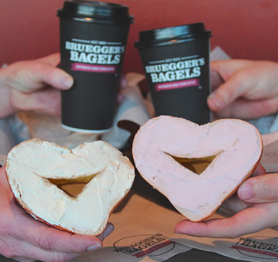 Bruegger's Bagels will be celebrating Mother's Day with Heart-Shaped Bagels for a limited time only.