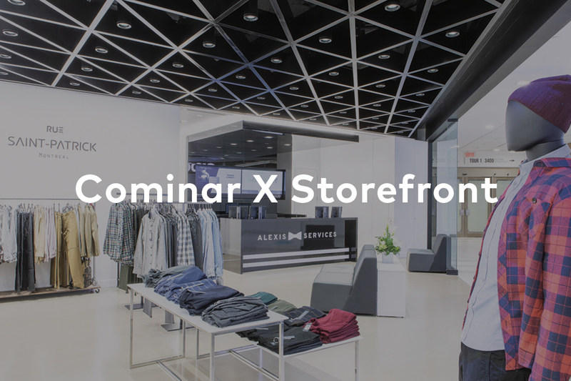 Cominar partners with Storefront to promote new pop-up spaces in high traffic shopping centers in Canada (CNW Group/COMINAR REAL ESTATE INVESTMENT TRUST)