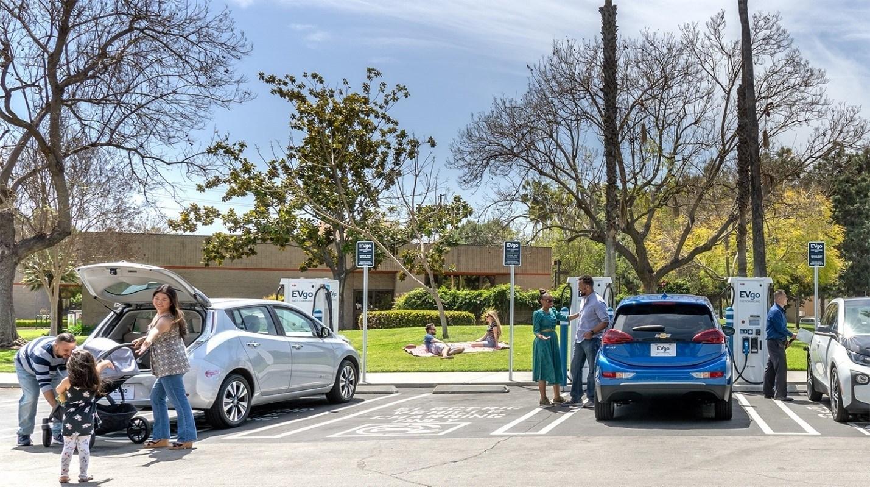 EVgo's Fast Charging Station at Brookhurst Community Center, Anaheim, CA; Credit: EVgo