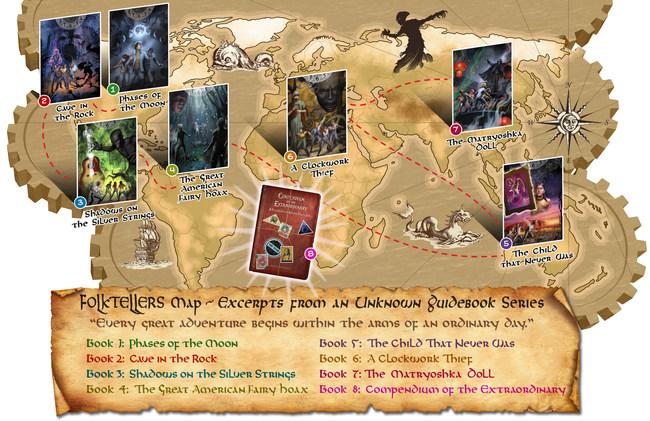 Folktellers Guidebook Series Map