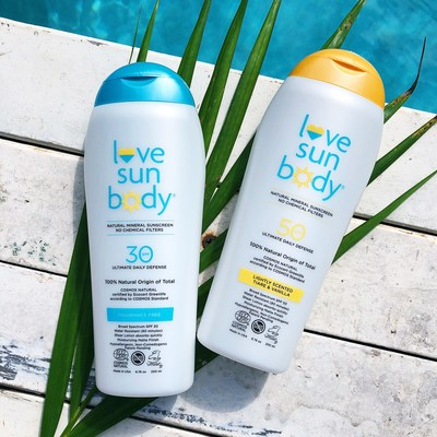 Love Sun Body 100% Natural Mineral Sunscreen SPF 30 and SPF 50