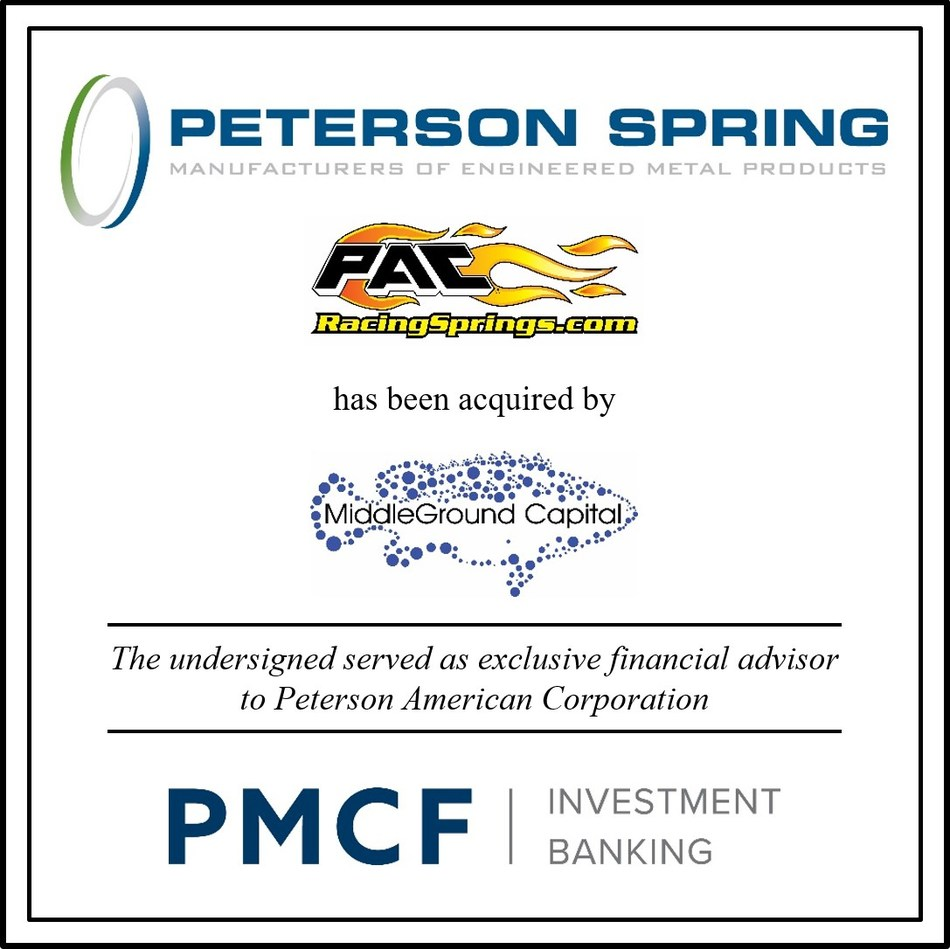 PMCF Advises Peterson in Sale to MiddleGround Capital