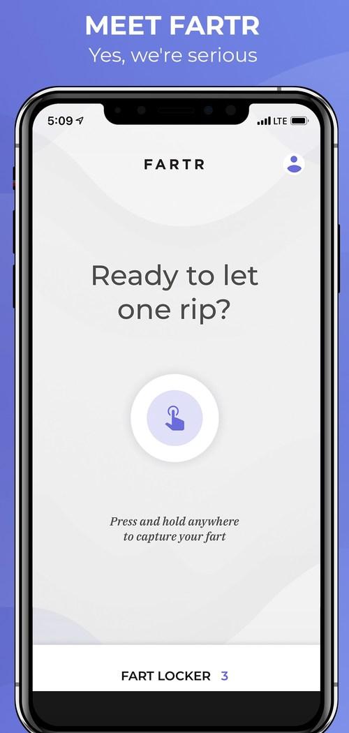Fartr App Home Screen