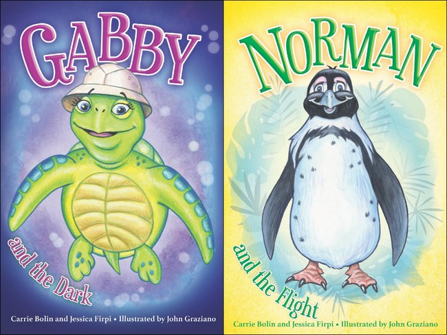 """Cover images of """"Gabby and the Dark"""" and """"Norman and the Flight,"""" now on sale!"""