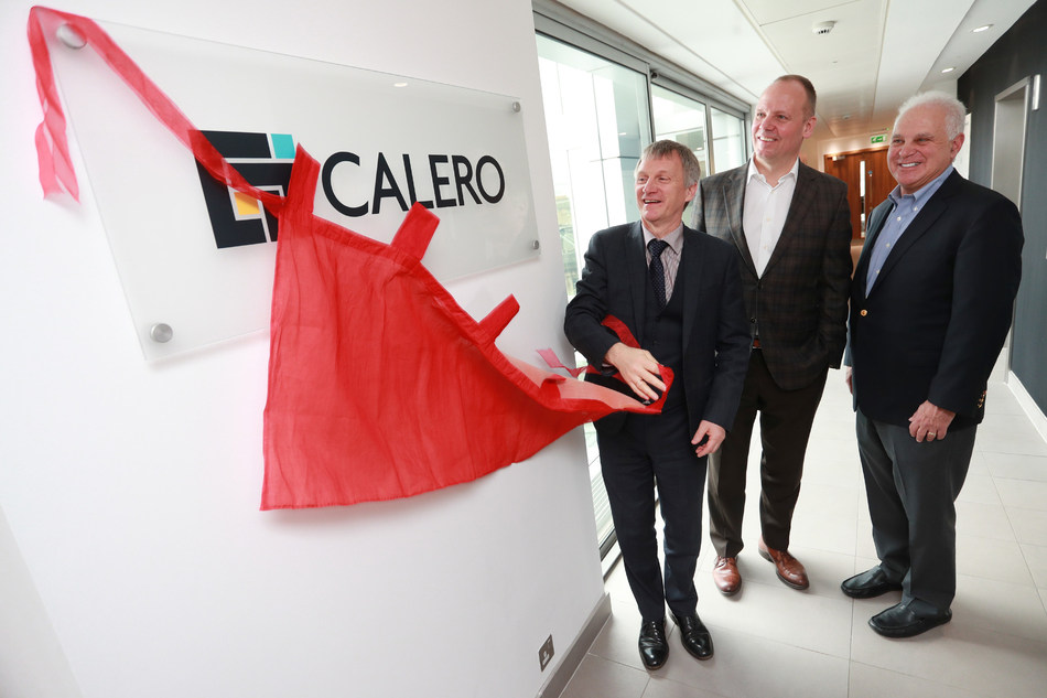 MSP Ivan McKee Minister for Trade, Investment and Innovation visits the Calero office in Edinburgh with Joe Pajer CEO and Steve Kaplan. All other rights are reserved.
